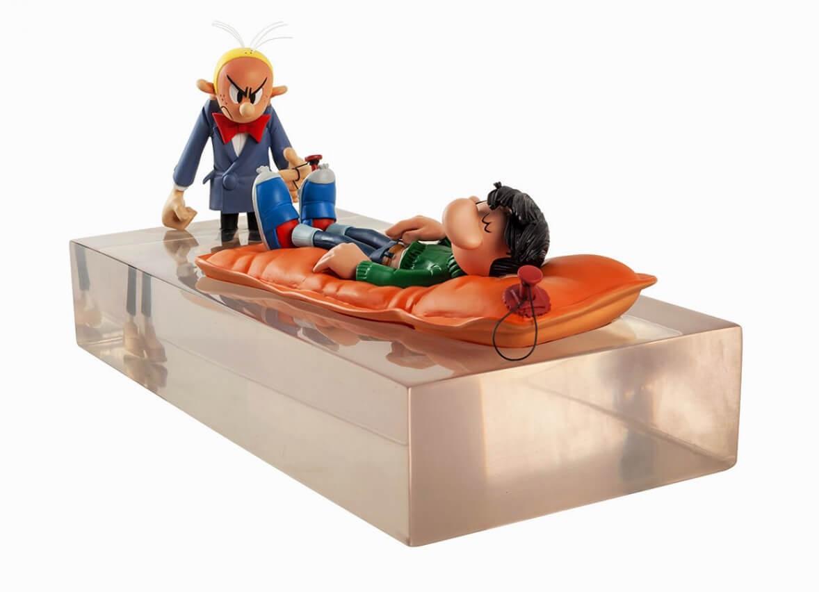 Figures & Vous - Cases de Franquin - Gaston & Fantasio l'Inondation