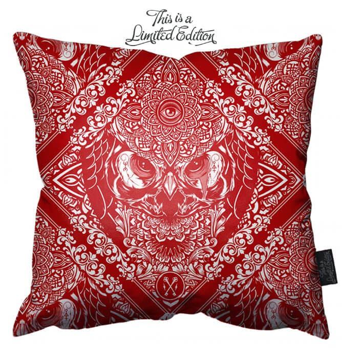 Hydro 74 - Red Owl Pillow (plus dispo)